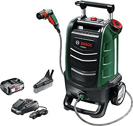 Bosch Fontus Cordless Outdoor Cleaner (1 Battery, Maximum Pressure Bar, 15  Litre Water Tank, 18 V System, in Cardboard Box)