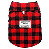 "Beirui Windproof British Plaid Dog Vest Winter Coat - Dog Apparel Cold Weather Dogs Jacket for Puppy Large dogs,Red,Large Back length for 12.6""(32cm)"