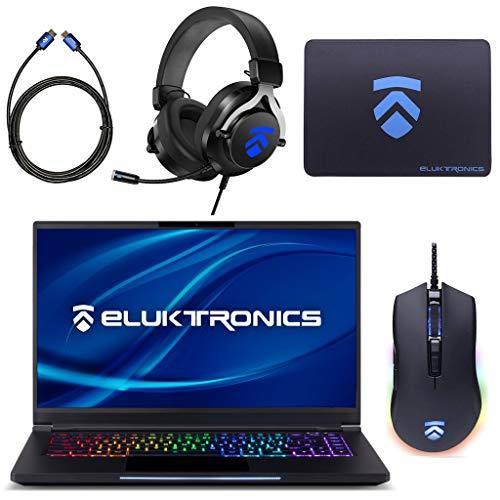 Eluktronics MAG-15 Slim & Ultra Light NVIDIA GeForce RTX 2070 Gaming Laptop with Mechanical RGB Keyboard – Intel i7-9750H CPU 8GB GDDR6 VR Ready GPU 15.6″ 144Hz Full HD IPS 2TB NVMe SSD + 32GB RAM