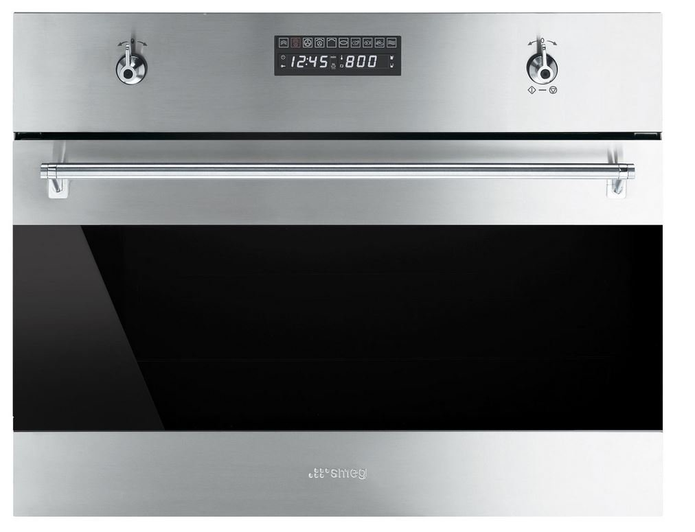 Smeg SU45VCX1 Classic Built-in Steam Combination Oven with 10 Cooking Modes, Stainless Steel by Smeg