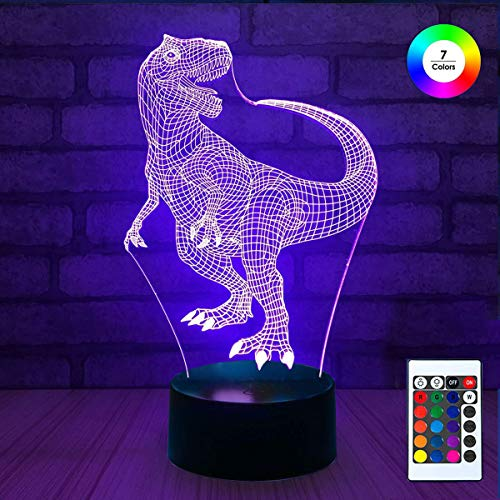 3D Night Light Stand, EpicGadget Optical Illusion Visualization LED Night Light Lamp 7 Colors Changing Remote Control Night Light Lamp Stand -