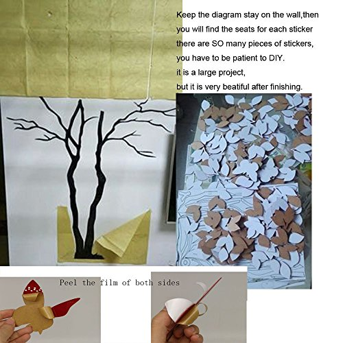 Tree Birds 3D Wall Decals Mirror Wall Stickers Tattoos Wall Decor 79inch Tall (Large 3.5x2.1, Silver) by Sisselyan (Image #1)
