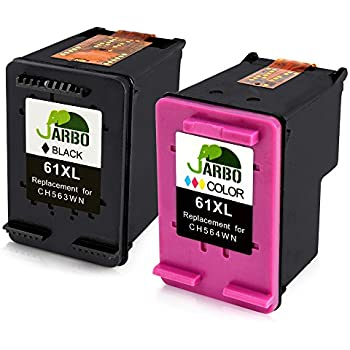 jarbo remanufactured for hp 61 ink cartridges high yield 1 black 1 tri color ink. Black Bedroom Furniture Sets. Home Design Ideas