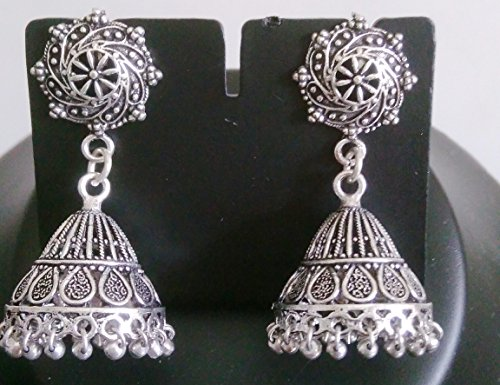 Costume Estate Jewelry Bracelet - NEW INDIAN ETHNIC KUCHI TRIBAL OXIDISEDT DANGLE EARRINGS JEWELLRY ZUMKHA