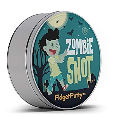 Zombie Snot Fidget Putty Stress Relief Novelty Zombie Gags for Kids Stocking Stuffers for Boys Halloween Weird White Elephant Ideas Fidget Toys Pearl Green Therapy Putty: Toys & Games