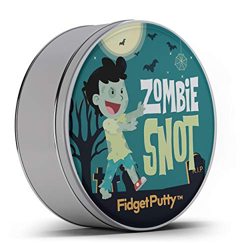 Zombie Snot Fidget Putty Stress Relief Novelty Zombie Gags for Kids Stocking Stuffers for Boys Halloween Weird White Elephant Ideas Fidget Toys Pearl Green Therapy Putty -