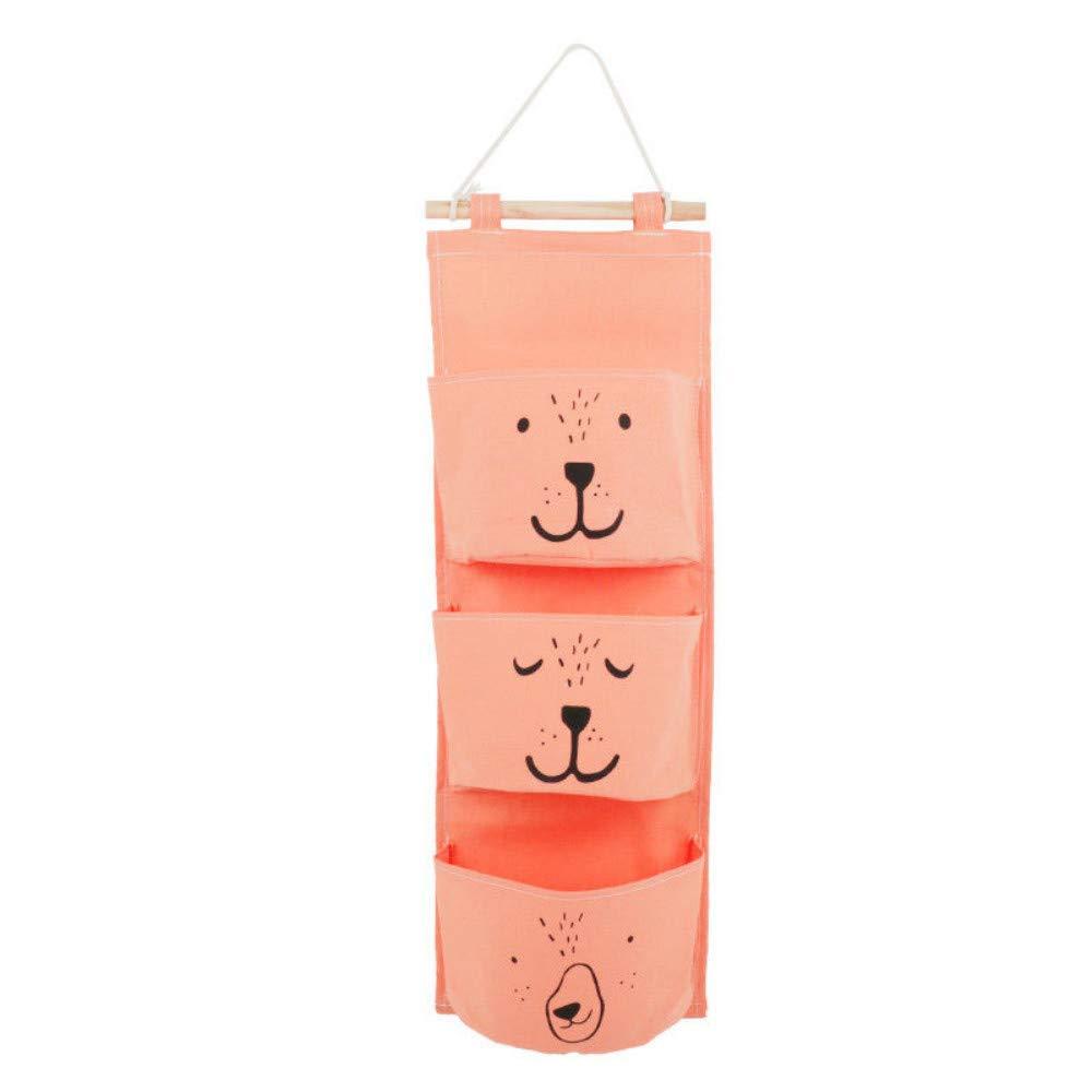 Schlafzimmer Style1 Ordnungssysteme H/ängender Organizer mit 3 Taschen H/ängeorganizer H/ängeaufbewahrung Multifunktionale Aufbewahrungstasche f/ür Kinderzimmer