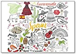 Spain Icons And Drawings, Illustration Classic Fridge Magnet