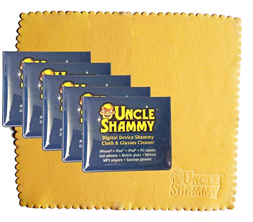 NEW Digital Device Uncle Shammy Small Cleaning Cloth 5 PACK Clean Smartphone Cell Phone Tablet Eye Glasses 5