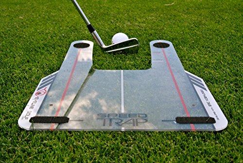 عروض EyeLine Golf Speed-Trap Base, 4 Red Speed Rods and Carry Bag; Shape Shots and Eliminate a Slice or Hook - Made in USA, 12