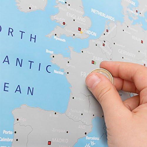 Mapa de Europa para Rascar: Amazon.es: Juguetes y juegos
