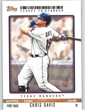 Amazoncom Chris Davis Texas Rangers Topps Ticket To