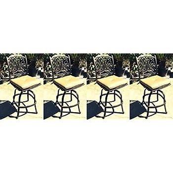 amazon com patio bar stools swivel set of 4 armless elisabeth cast