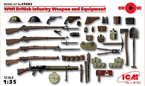 ICM Models World War I British Infantry Weapon/Equipment -