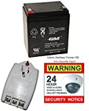 Replacement Alarm Battery Kit Casil CA1240 + PS & Sticker, Ultratech ADT Brinks CA-1240
