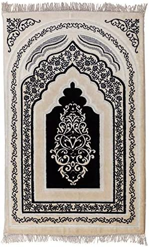 Sajjada Orthopedic Memory Foam Area Rug Runners Prayer Rug Black