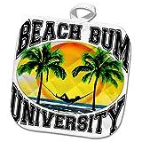 3dRose Macdonald Creative Studios – Beach - A Fun Beach Bum University for Anyone who Loves Relaxing on The Beach. - 8x8 Potholder (PHL_291853_1)