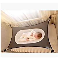 Infant Safety Bed - Breathable & Strong Material That Mimics,Baby Hammock Cradle (Gray)