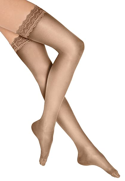 Wolford Day & Night 10 Stay-Up - Mujer 10 Denier: Amazon.es: Ropa y accesorios