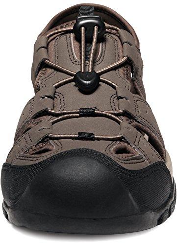 ATIKA AT-M108-CBN_Men 9 D(M) Men's Sports Sandals Trail Outdoor Water Shoes 3Layer Toecap M108 by ATIKA (Image #2)
