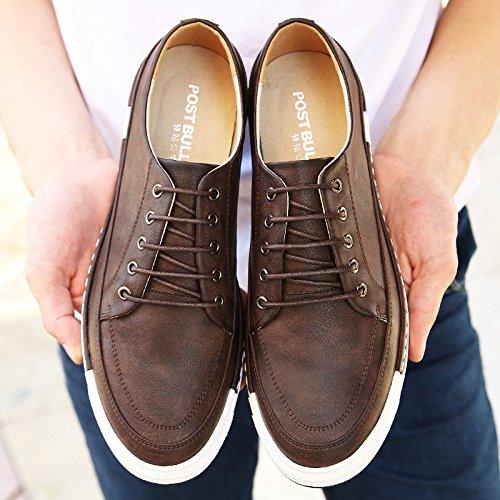 Sneakers Hommes Brown en Chaussures MSM4 Respirant Nouveau Confortable Chaussures D'été Hommes Dentelle Casual vS7q57x