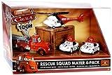 Disney / Pixar CARS TOON 1:55 Die Cast Car Rescue Squad 4-Pack #2 (Firetruck Mater, Rescue Chopper, Dalmatians Mia and Tia)