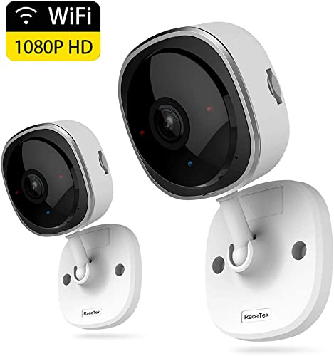 Wireless Security Camera 1080P,180 Degree Panoramic Camera with Motion Detection,Night Vision,Two-Way Audio,Home Security WiFi IP Camera for Office Baby Nanny Pet Monitor White-2 Pack