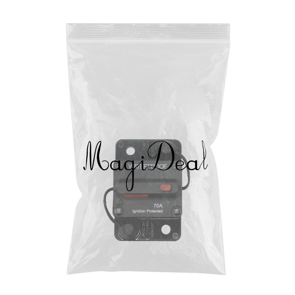80A Rating 12-48Vdc Auto Marine MagiDeal Switchable Surface Mount Circuit Breaker