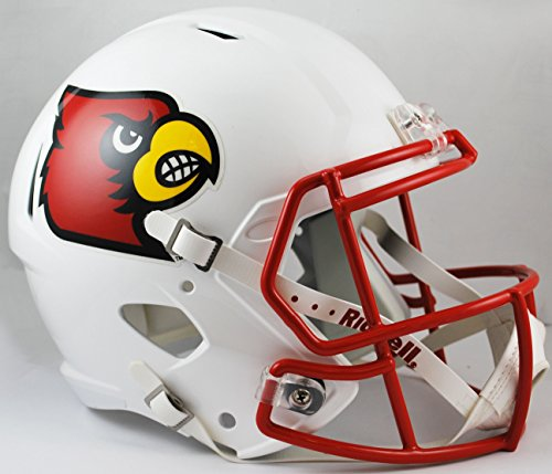 NCAA Louisville Cardinals Full Size Speed Replica Helmet, Red, Medium by Riddell