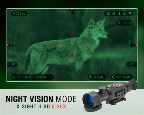 ATN X-Sight II 5-20x/85mm Smart Day & Night Rifle Scope