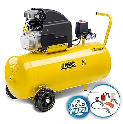 Compresor de aire Montecarlo B20 Basilin 50 litros más Kit 5 Piezas