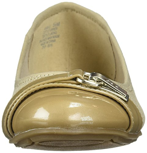 Anne Klein Sport Tasha Fabric Womens Ankle Strap Natural Multi Fabric