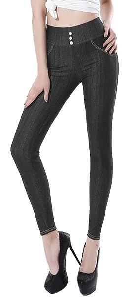 a670c47da6354 Sipaya Women's High Waist Jeans Leggings Denim Printed Stretchy ...