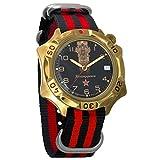 Vostok Komandirskie Double-Headed Eagle Mechanical Mens Military Wrist Watch #539792 (Black+red)