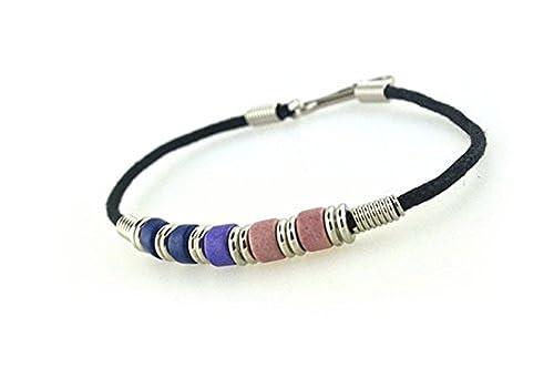 08bc44c1e Bi Pride Plain Bead Wristlet Bracelet - Bisexual LGBT Pride Jewelry (Bi  Pride Flag Plain