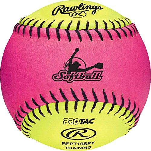 Rawlings Pink/Optic Yellow FPEX Soft Training Softball, 12 Count, RFPT10SPY
