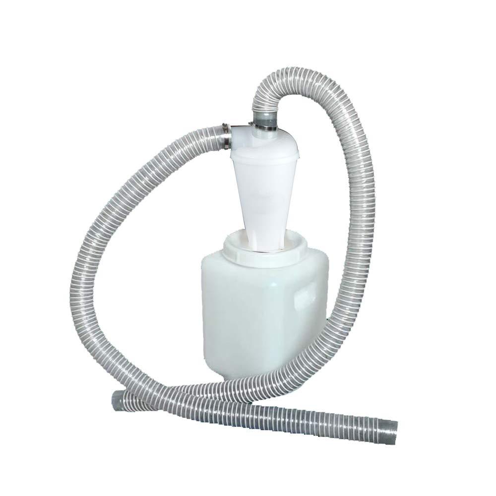 Polvo de Alto Rendimiento y Colector de Polvo Vinteky Separador Cicl/ónico Filtro con 20L Cubo de Pl/ástico Filtro del Separador de Polvo del Cicl/ón para Aspiradoras