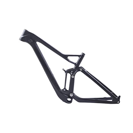Amazon.com : Smileteam 27.5+ Carbon Full Suspension Frame 27.5er ...