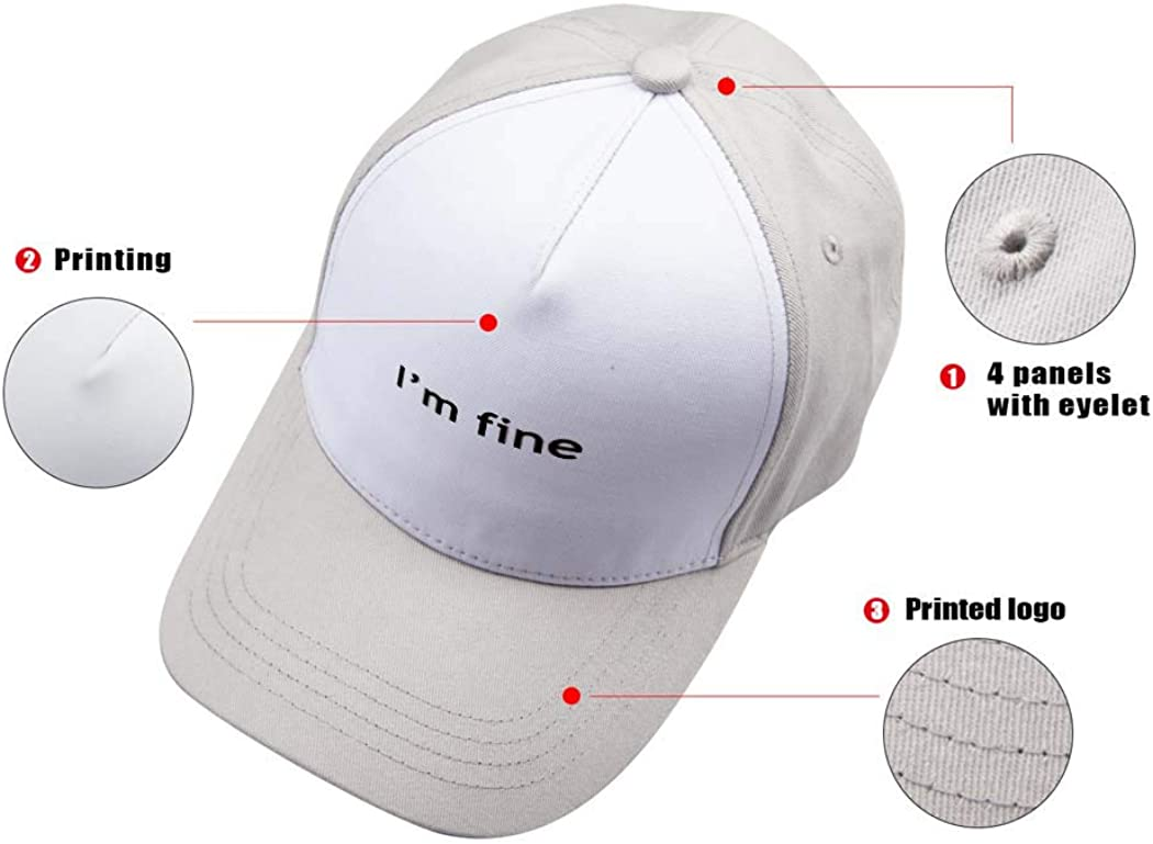Baseball Cap Im Fine Adjustable Men Women Unisex Outdoor Sports Hat