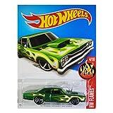 Hot Wheels, 2016 HW Flames, '69 Dodge Coronet Superbee [Green] Die-Cast Vehicle #94/250 by Hot Wheels