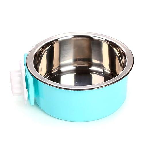 Caja de comida para mascotas Cuenco colgante para mascotas 2 en 1 ...