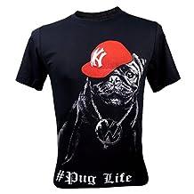 Immortal Men's Pug Life Funny T-Shirt NWT