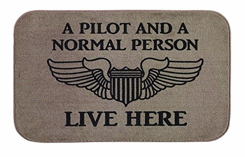 [Doormat-only Pilot and Normal Person Live Here Door Mat(18x30in)] (Live Here Door Mat)