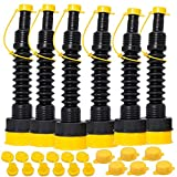 Automotive : ORANDESIGNE Gas Can Spout Nozzle Replacement Kit W/Stopper Cap Flame Arrestor Fine & Coarse Screw Collar Caps- ffor Old Style Pre 2009 Gas Cans Water Jugs Container(Black 6)