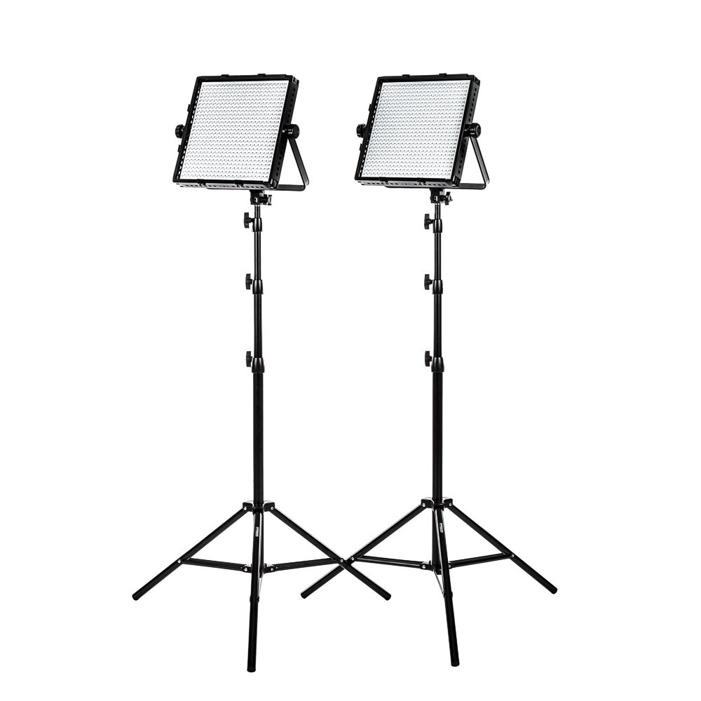 Fovitec Studiopro 2x Daylight 600 Led Panel Bundle W Wiring Diagram Stands Continuousadjustable Lightingv Lock Compatible Flood Lighting Camera