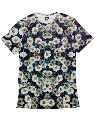 fan products of Into The AM Trippy Daisies All Over Print Tee (Large)