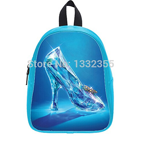 Unique Design Cinderella Lost Shoe Printed Cyan Teenager School Bags Good Quality Backpacks - Cinderellas Lost Shoe