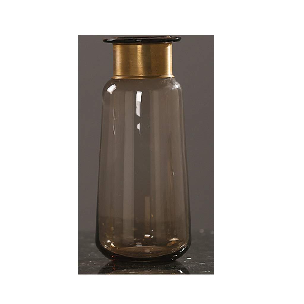 HBJP 北欧ガラス花瓶、家の装飾、リビングルームの装飾 花瓶 (Size : High 32CM) B07SD9BZFB  High 32CM