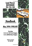 Land Rover Defender 90.110.130 Handbook Mar. 1994-1998 MY