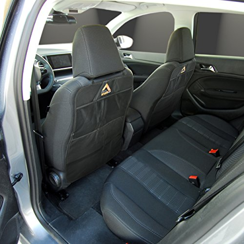 car kick mat set of 2 seat protector mats for car upholstery black by insidesmarts for. Black Bedroom Furniture Sets. Home Design Ideas